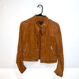 BCBGMaxAzria Suede Brown Jacket Coat Autumn Small